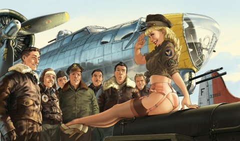 Inspiration hebdomadaire spécial Pin-up en digital painting