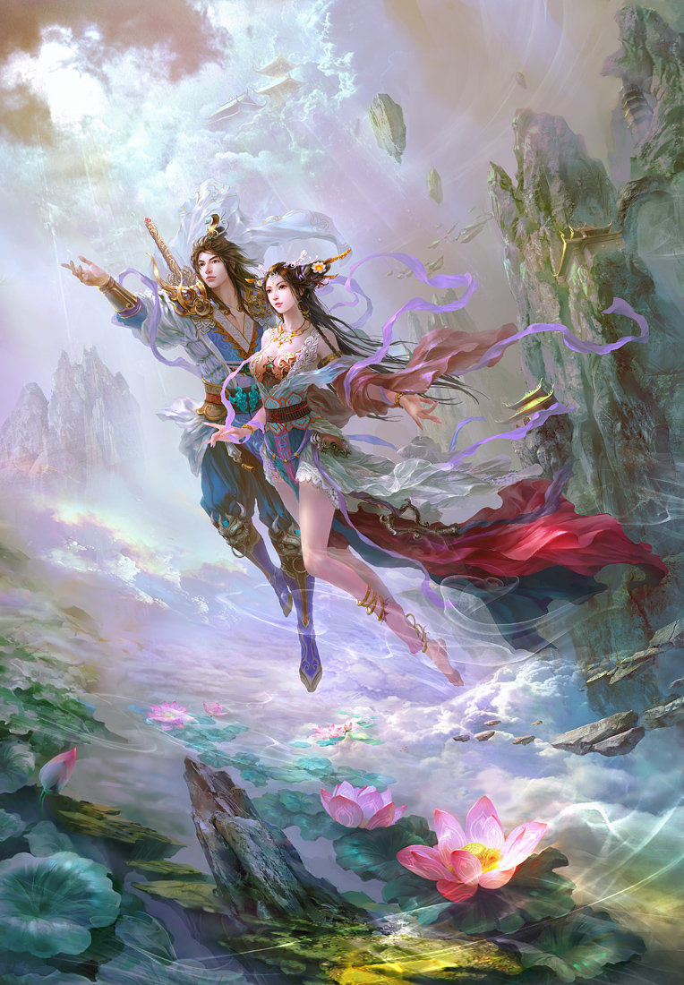 guangjian huang digital painting Immortal