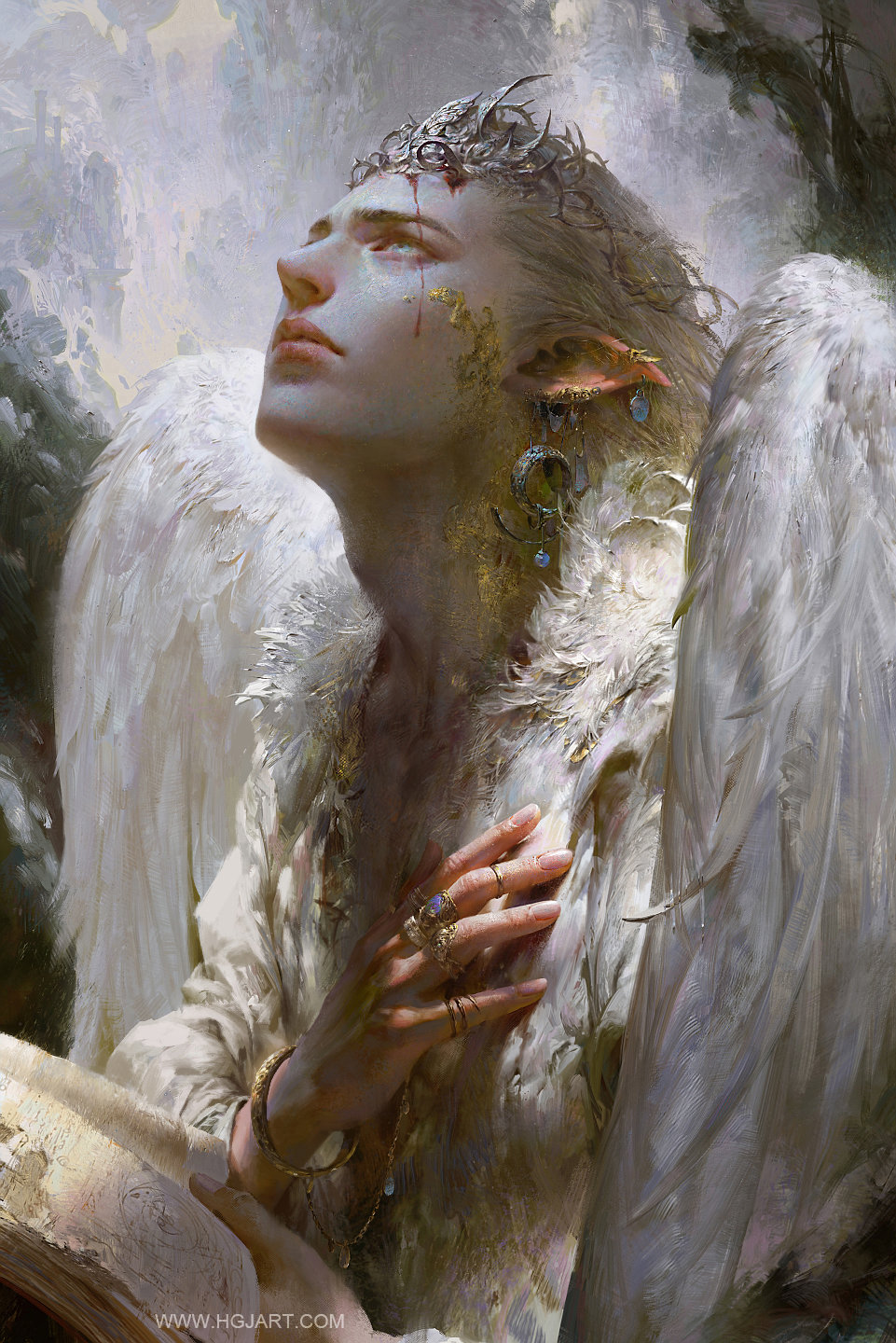 guangjian huang digital painting Angel