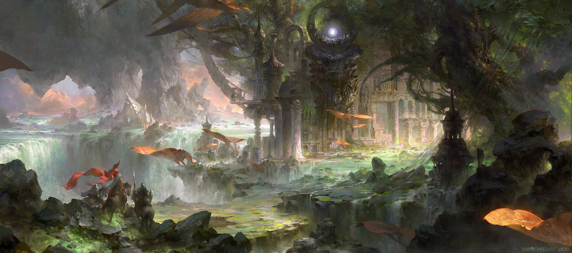 guangjian huang digital painting The ancient city