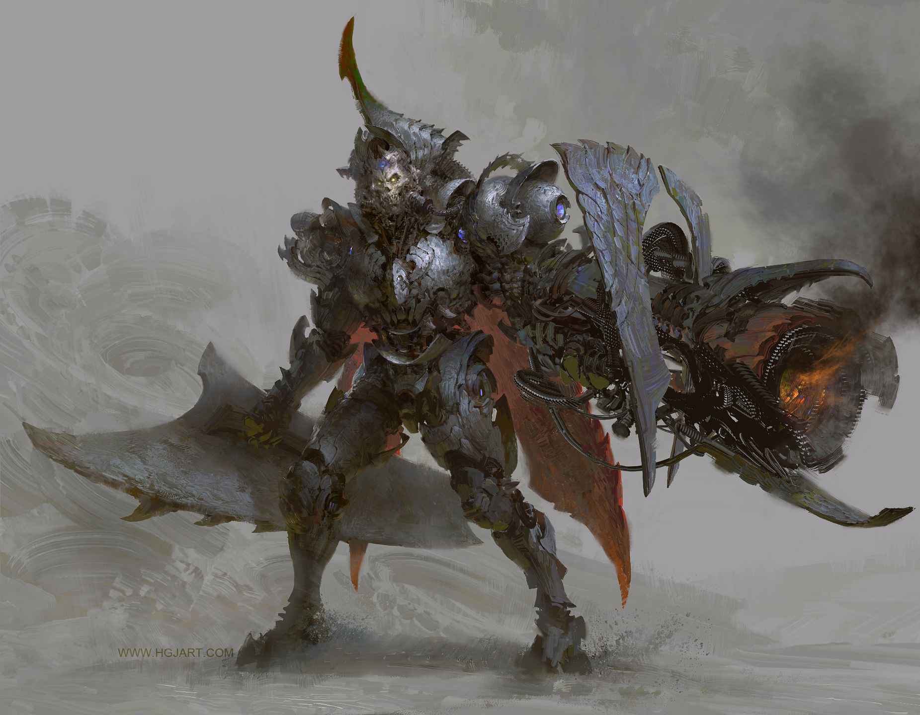 guangjian huang digital painting Concept art Knight squeletton