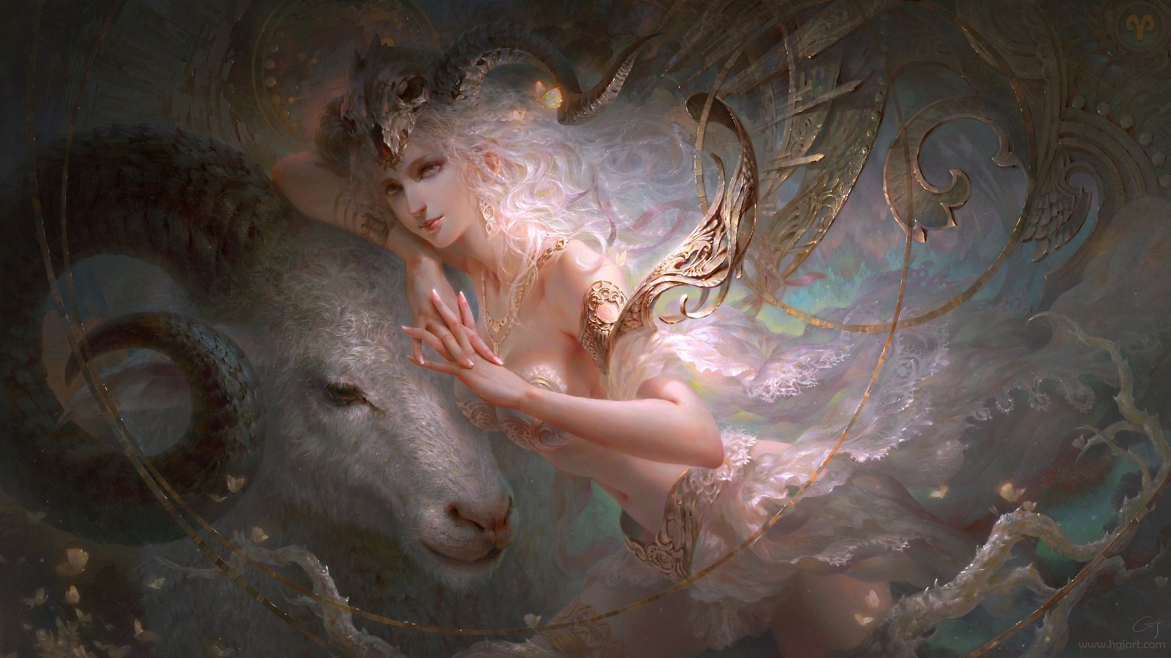 guangjian huang digital painting Aries