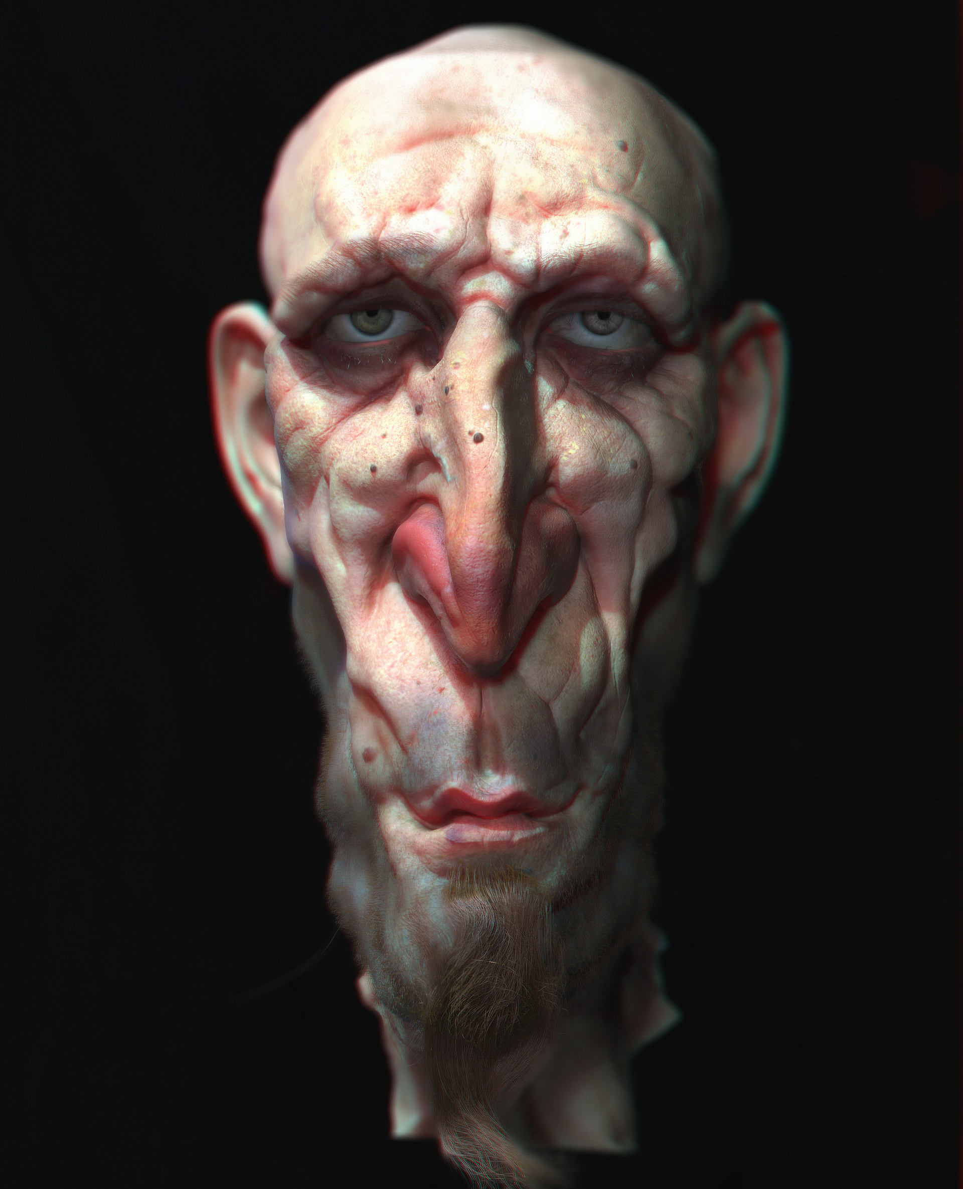 pablo dominguez digital painting character design old skiny man