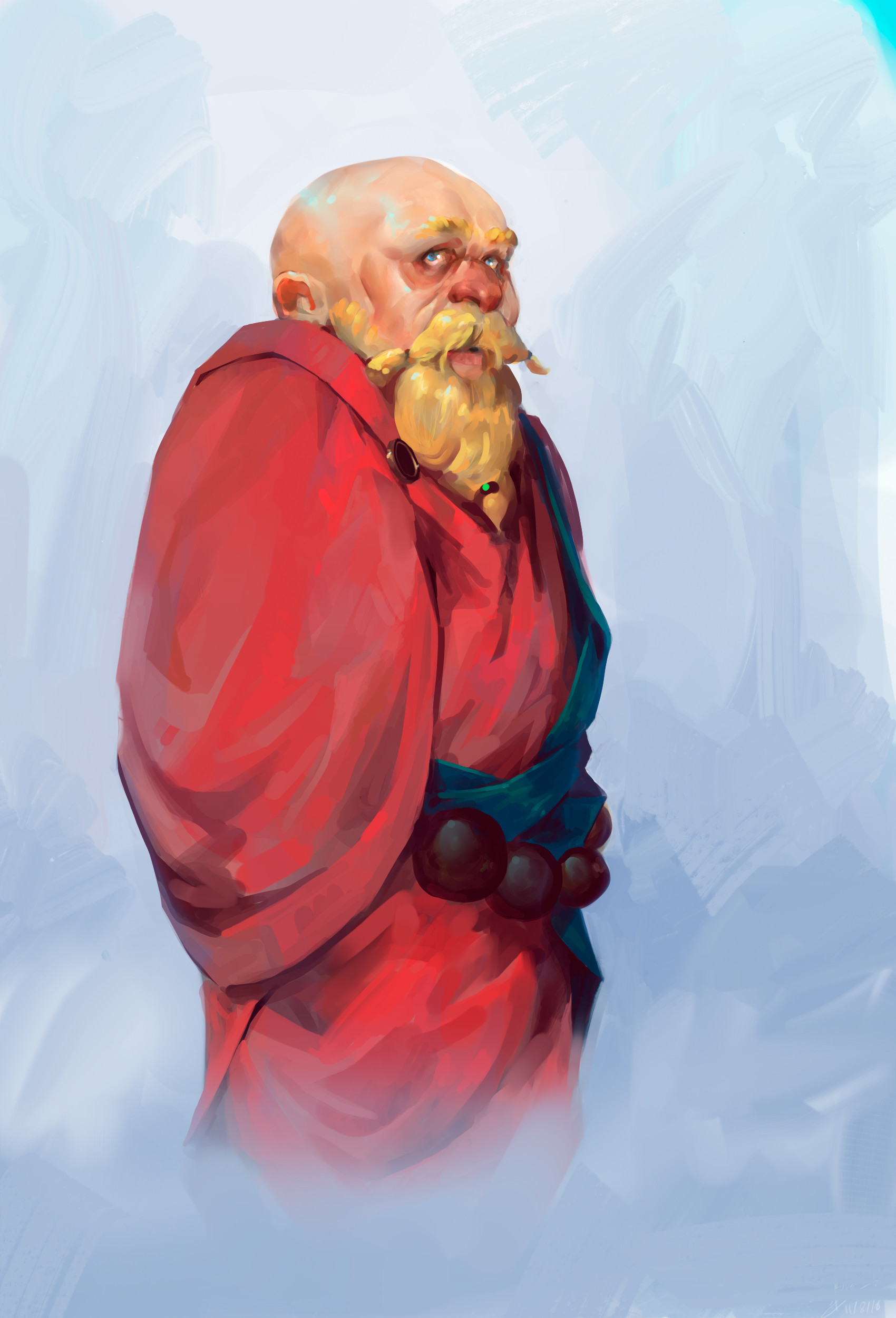 Pablo dominguez Digital painting concept art Monk