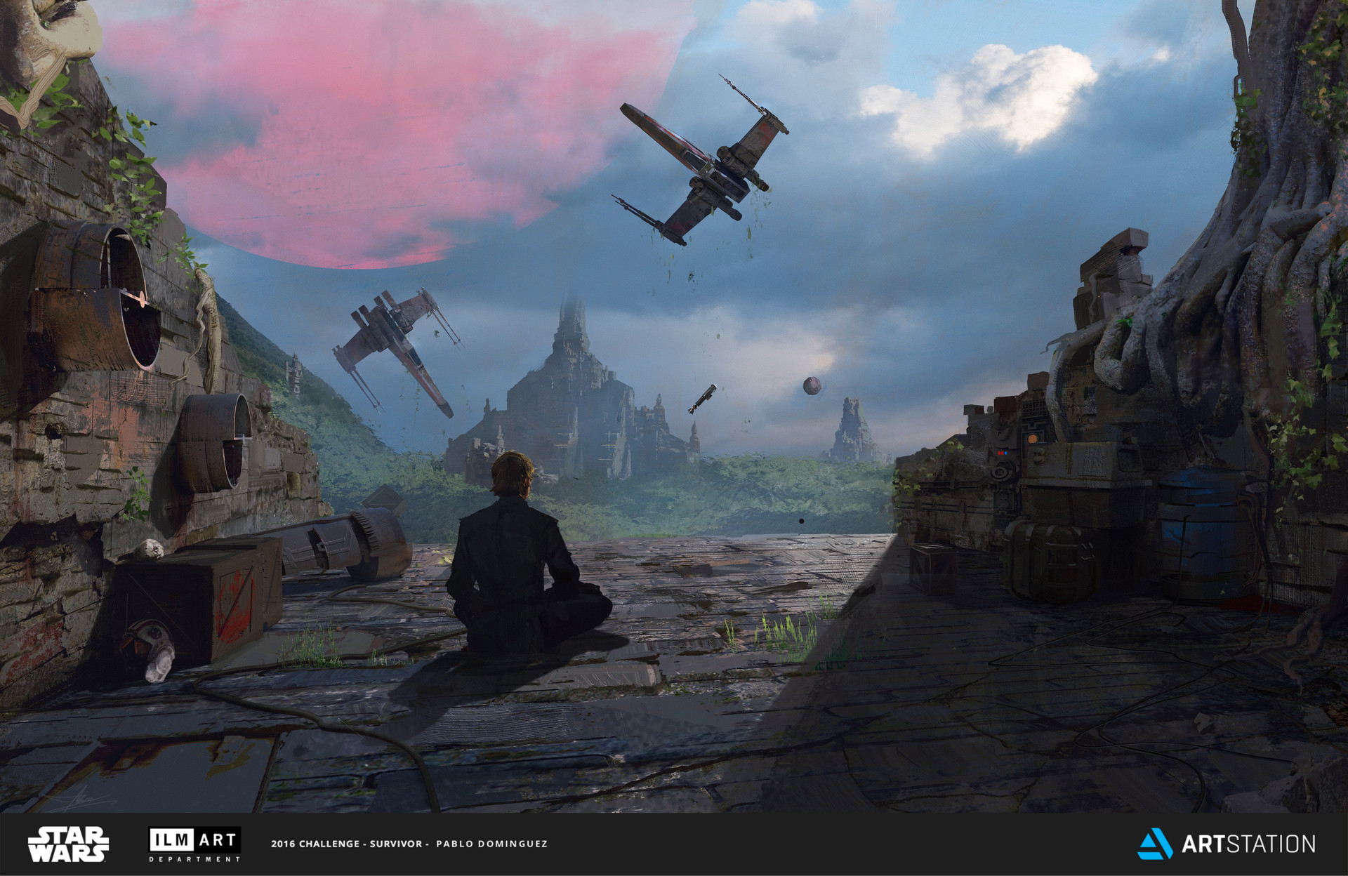 pablo dominguez digital painting Illustration Star Wars Challenge Landscape