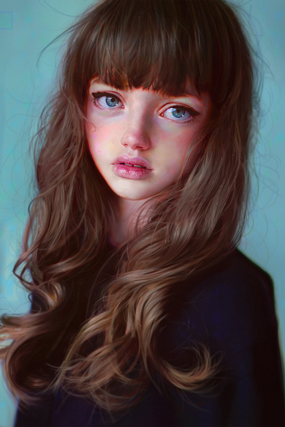 irakli nadar digital painting Portrait Cutie