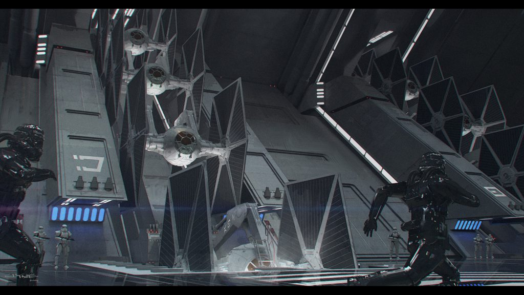 James Clyne Concept Art Star Wars Film Empire Fleet
