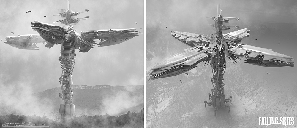 James Clyne Concept Art Falling Sky