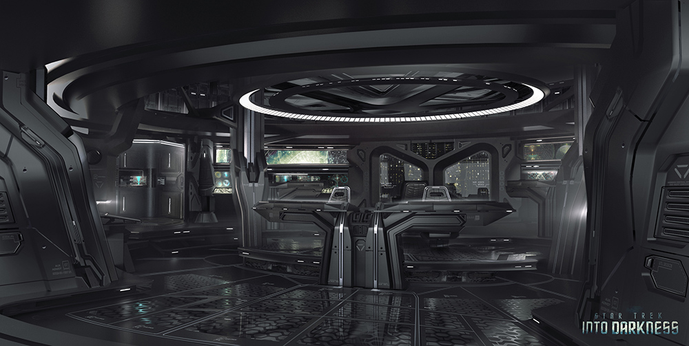 James Clyne Concept Art Star Trek Film Ship interior