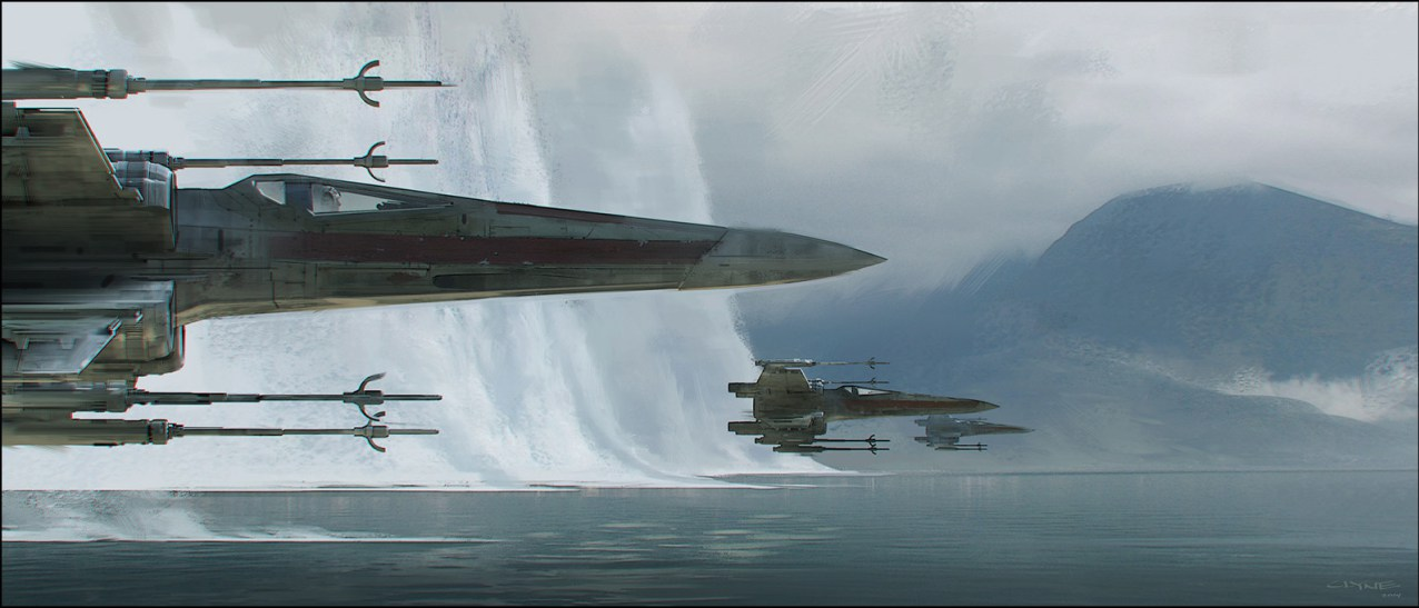 James Clyne Concept Art Star Wars Rebel Ship