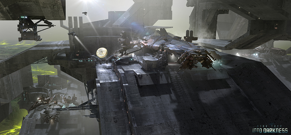 James Clyne Concept Art Film Star Trek Ship
