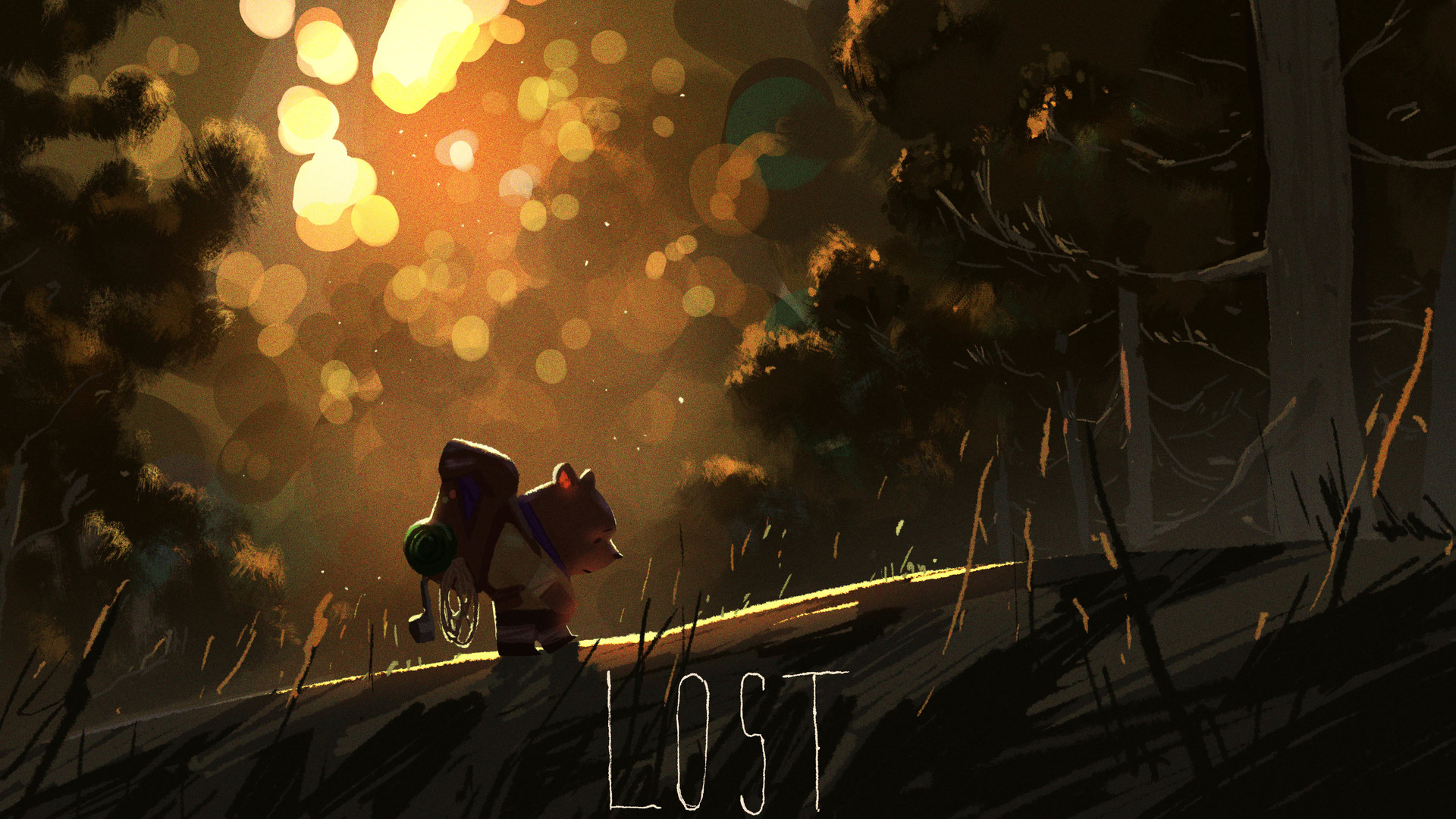 mike redman digital painting illustration Lost 2