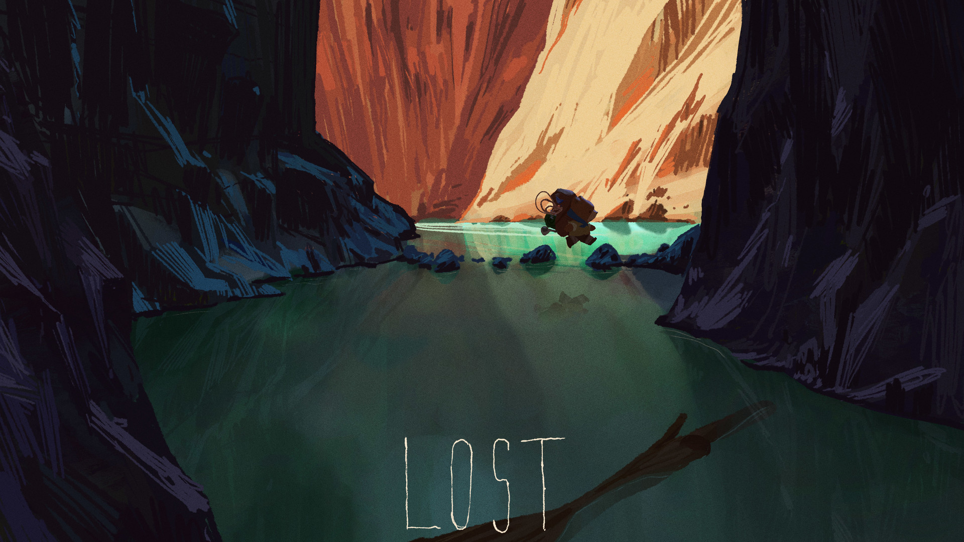 mike redman digital painting illustration Lost 3