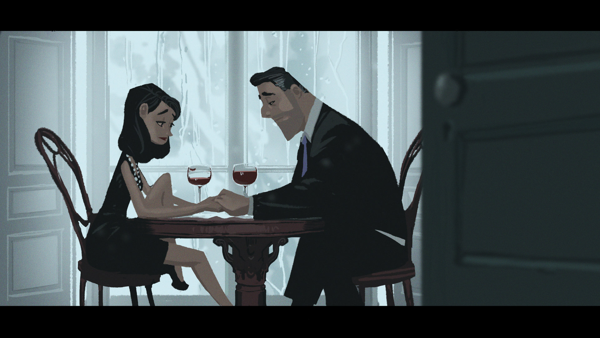 mike redman digital painting illustration A necessary conversation Couple