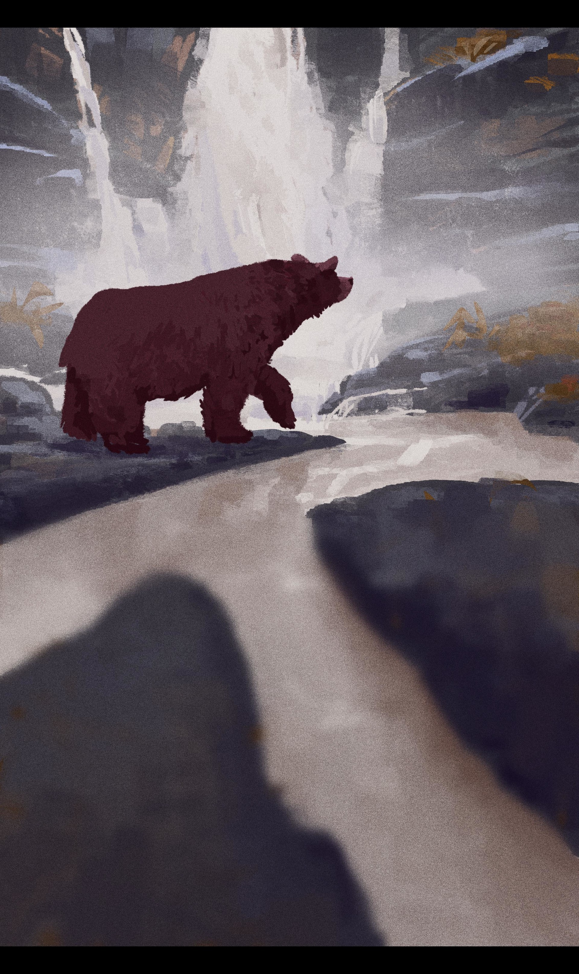 mike redman digital painting illustration Lonely Bear