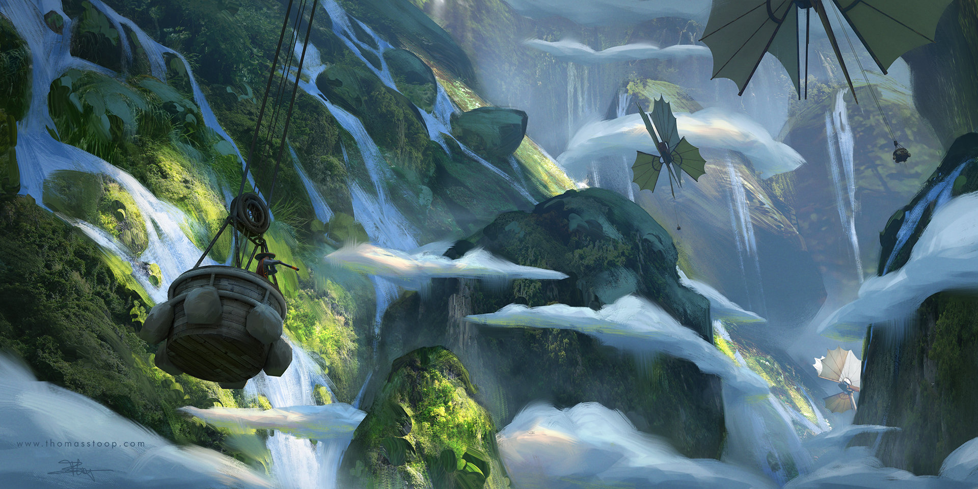 Thomas Stoop Concept Art landscape Travelers