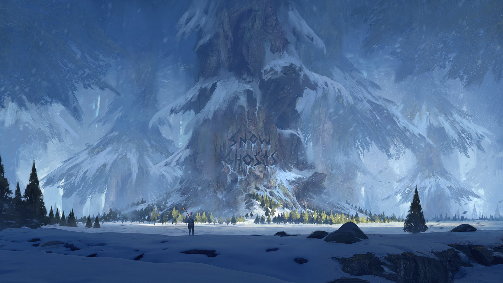 Thomas Stoop Concept Art landscape Ghost Snow