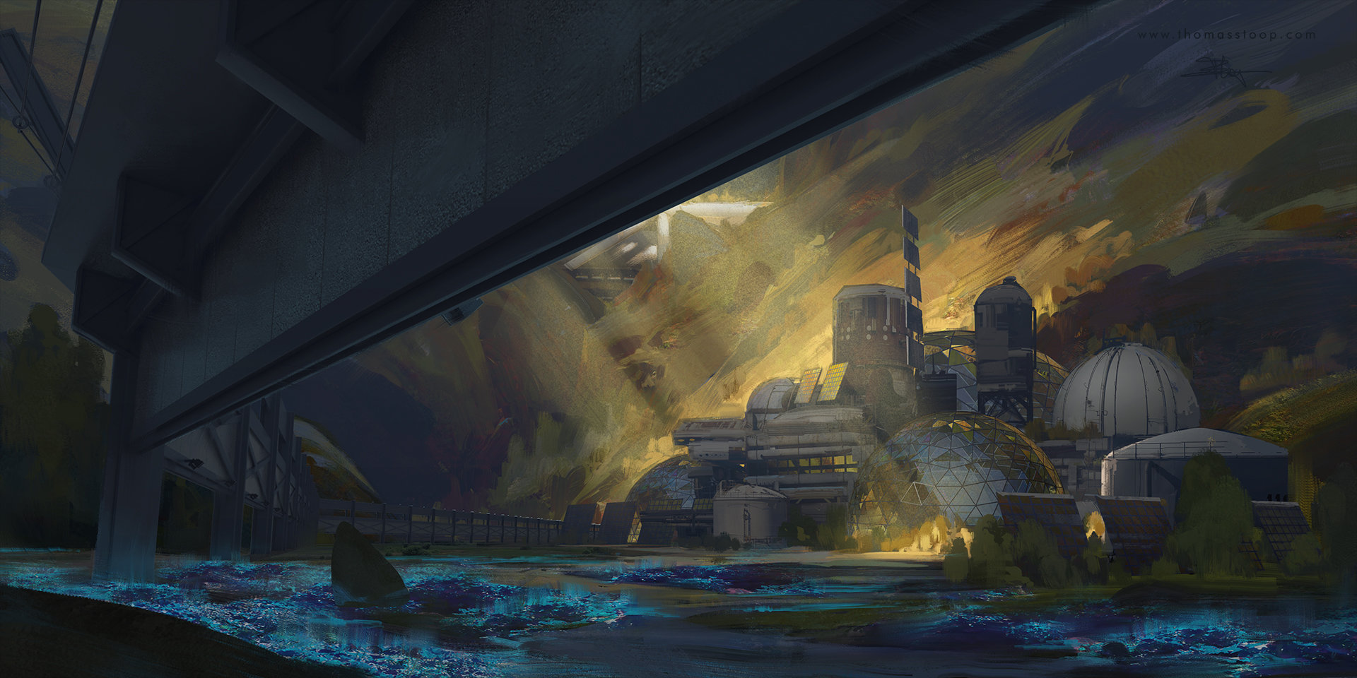 Thomas Stoop Concept Art Trollhjem Base