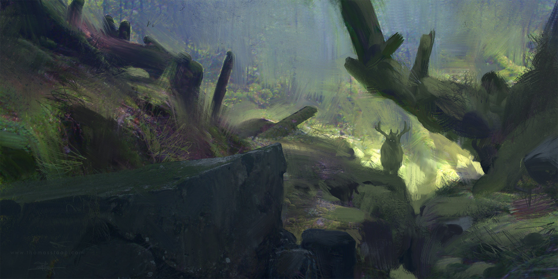 Thomas Stoop Concept Art Forest Dwellers