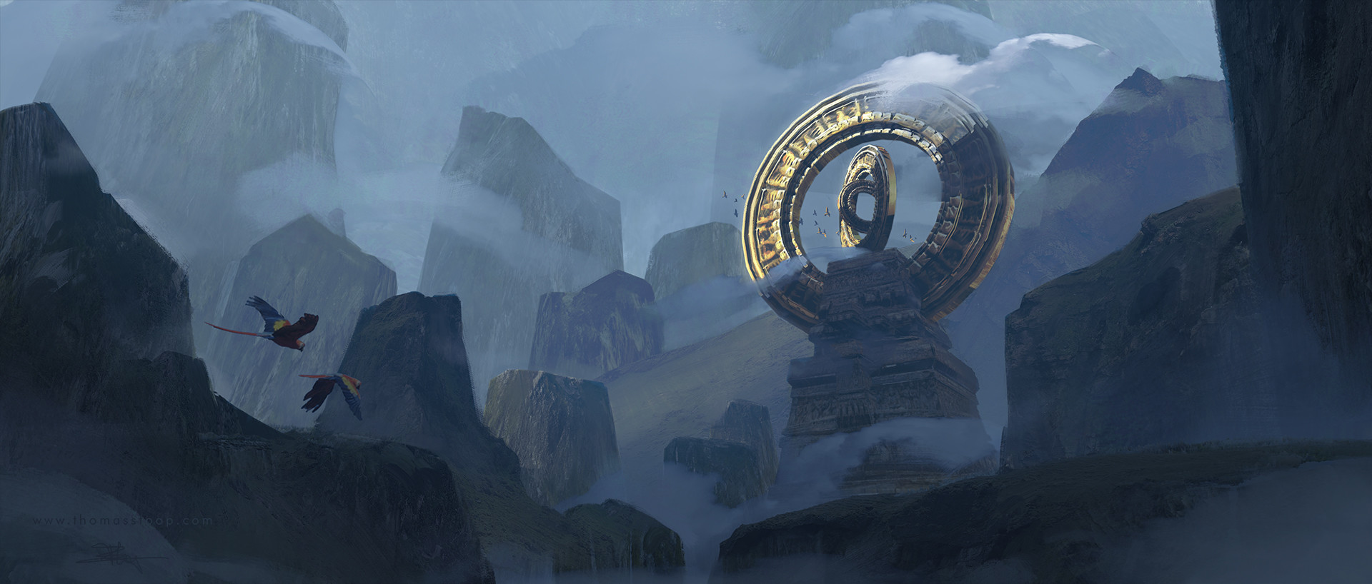 Thomas Stoop Concept Art landscape Sun Temple