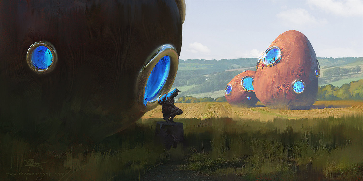 Thomas Stoop Concept Art landscape Eggs