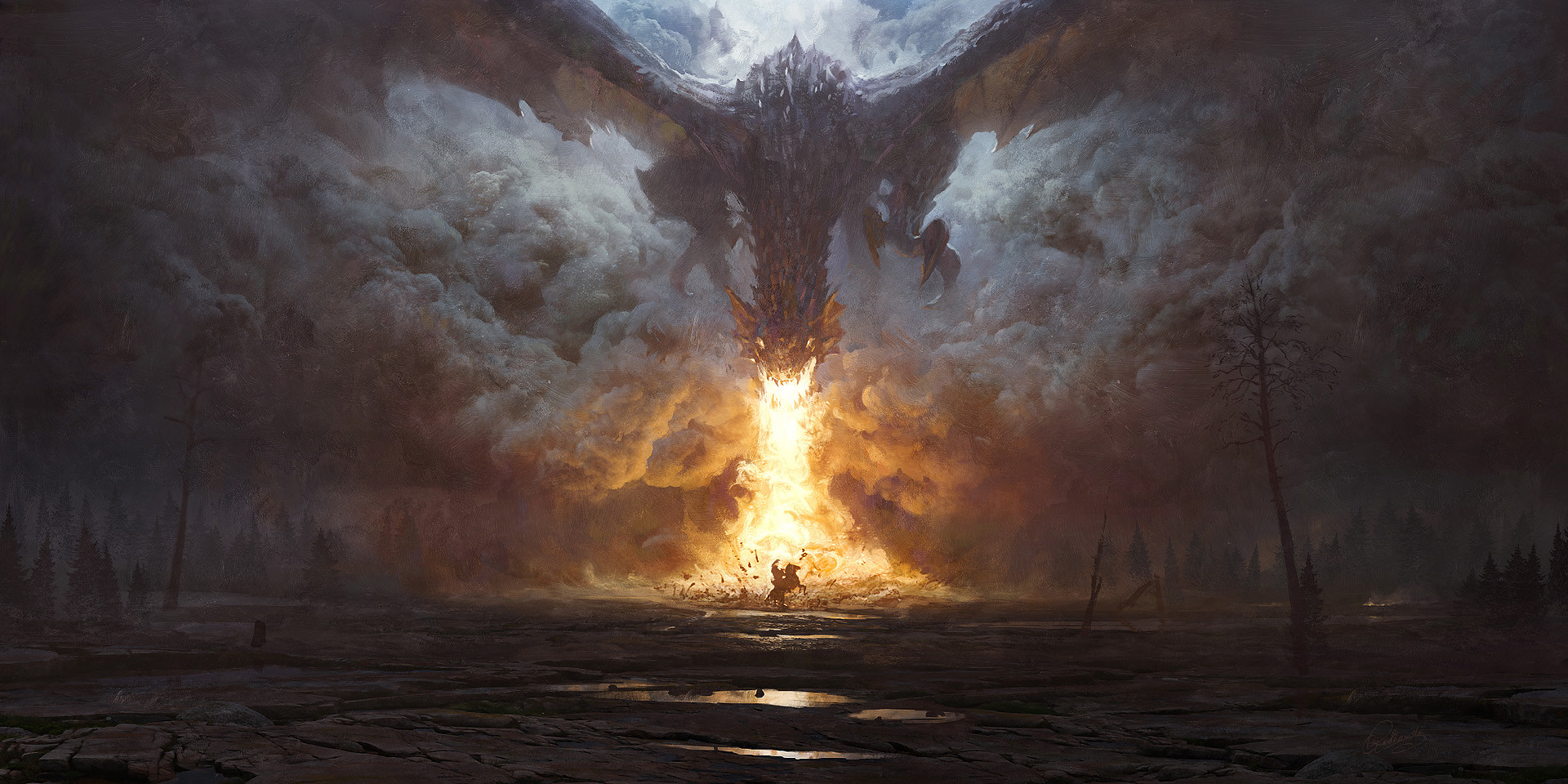 Grzegorz Rutkowski Digital Painting Illustration Dragon'Breath