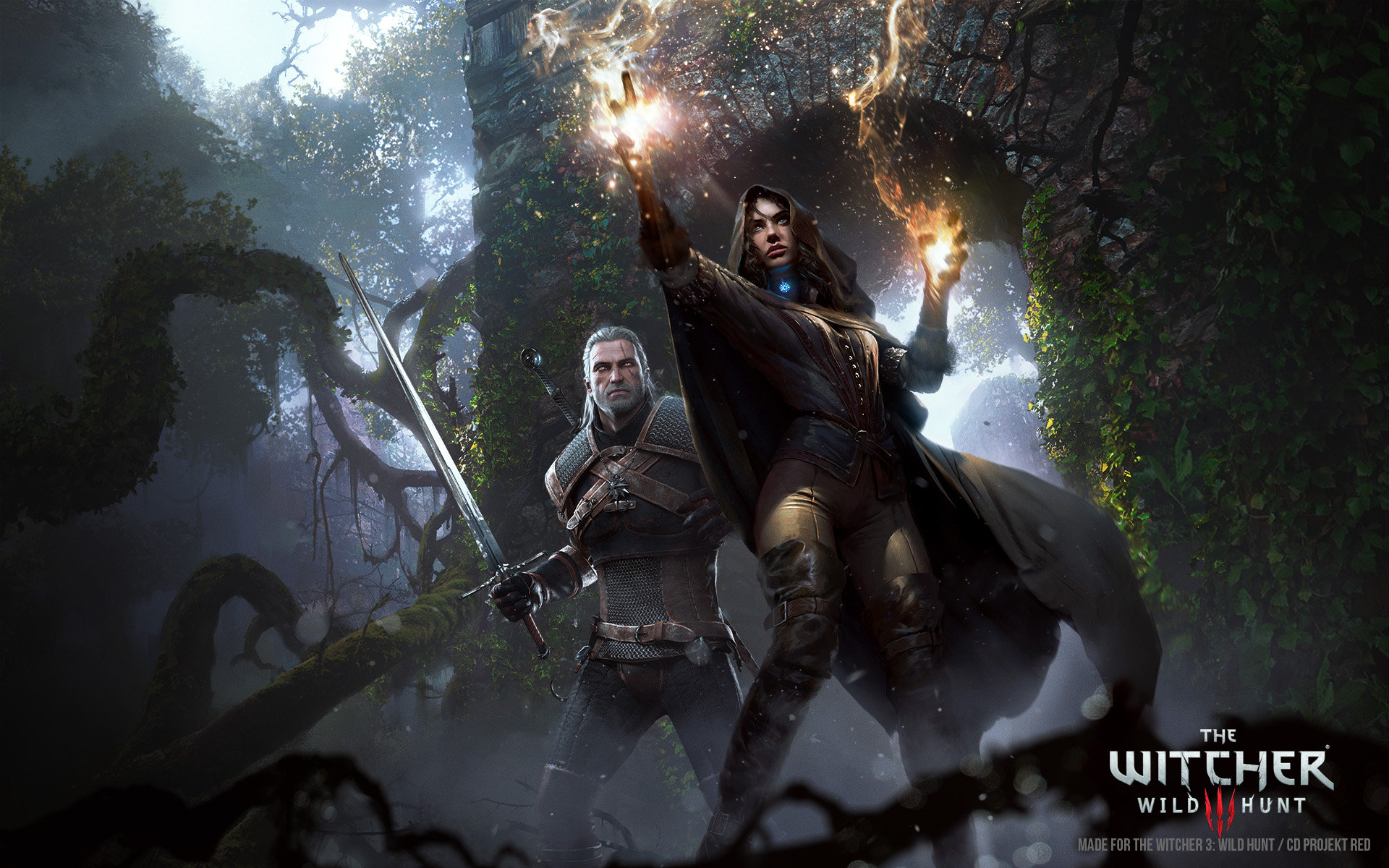 Grzegorz Rutkowski Digital Painting Illustration The Witcher III Promo Art