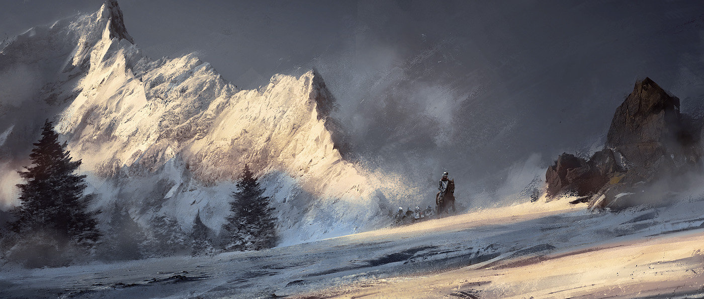 Grzegorz Rutkowski Digital Painting Illustration Through The Moutains