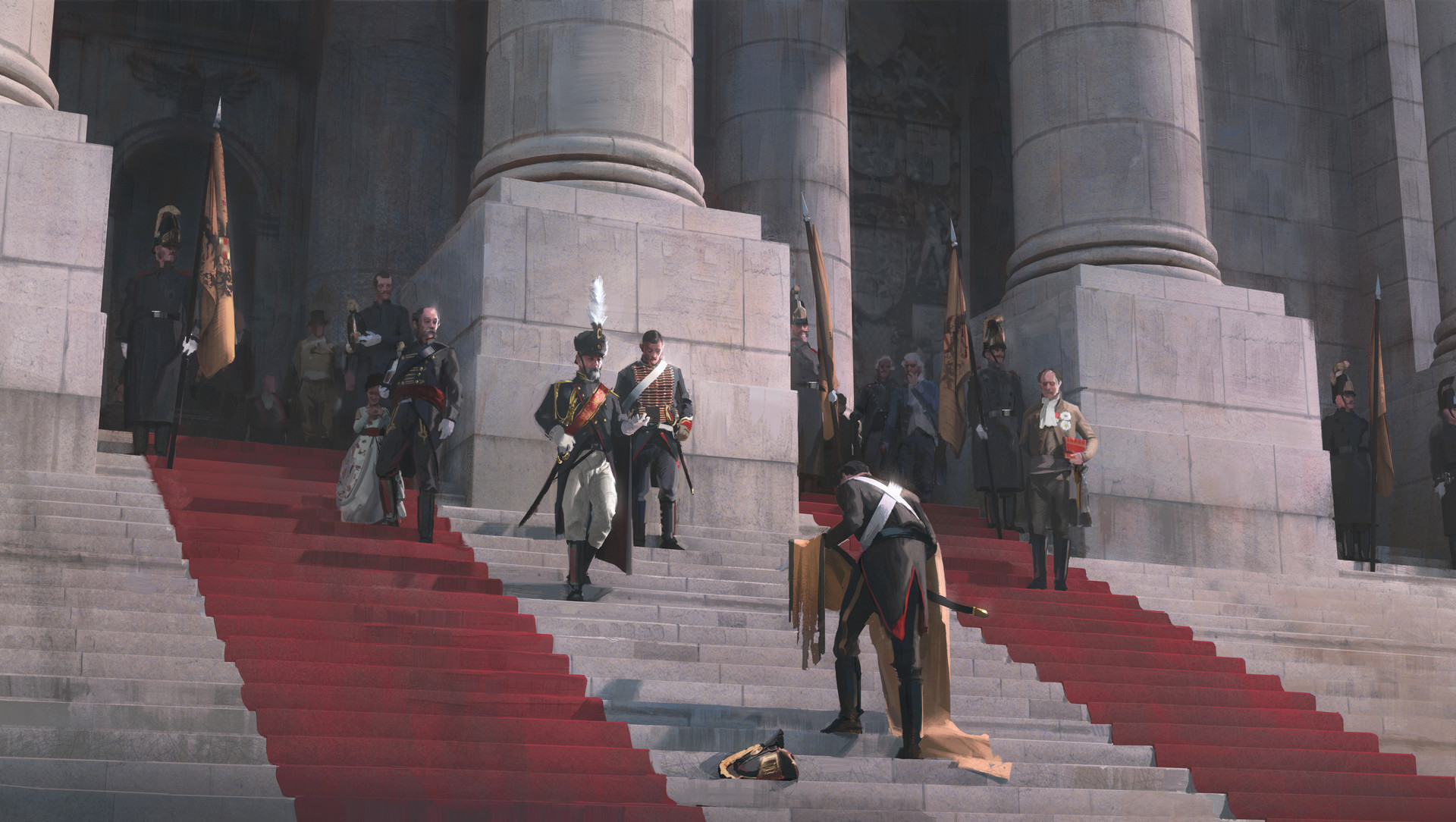 Nick Gindraux Digital Painting illsutration Loss after the battle of Austerlitz