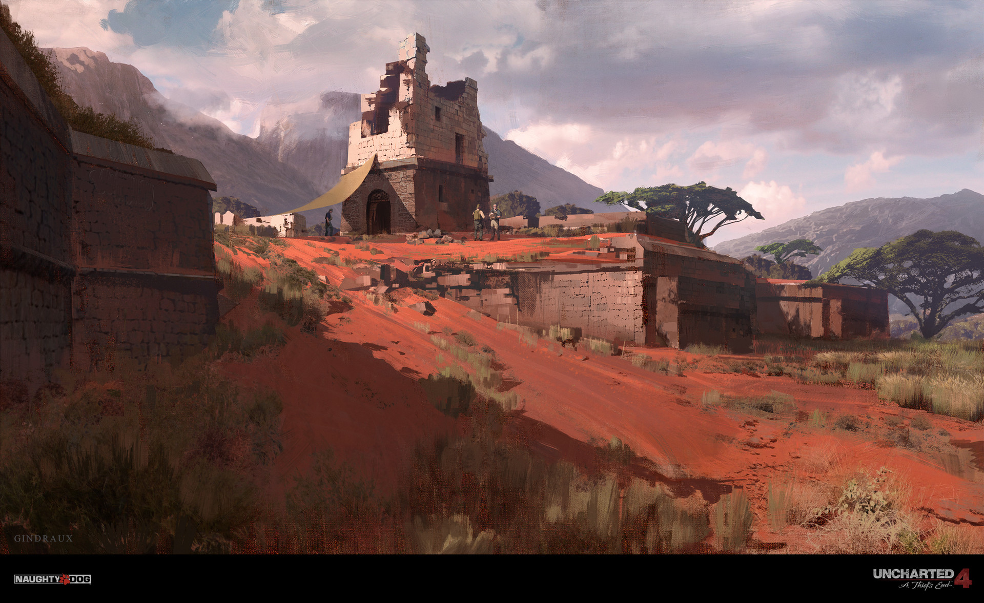 Nick Gindraux Digital Painting Concept Art Uncharted 4 Madagascar