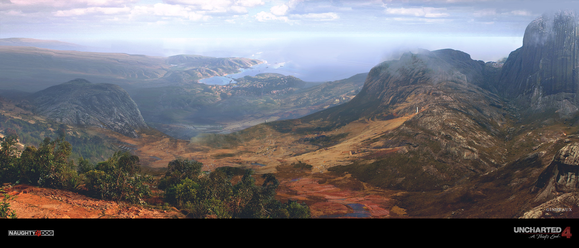 Nick Gindraux Digital Painting Concept Art Uncharted 4 Madagascar Vista