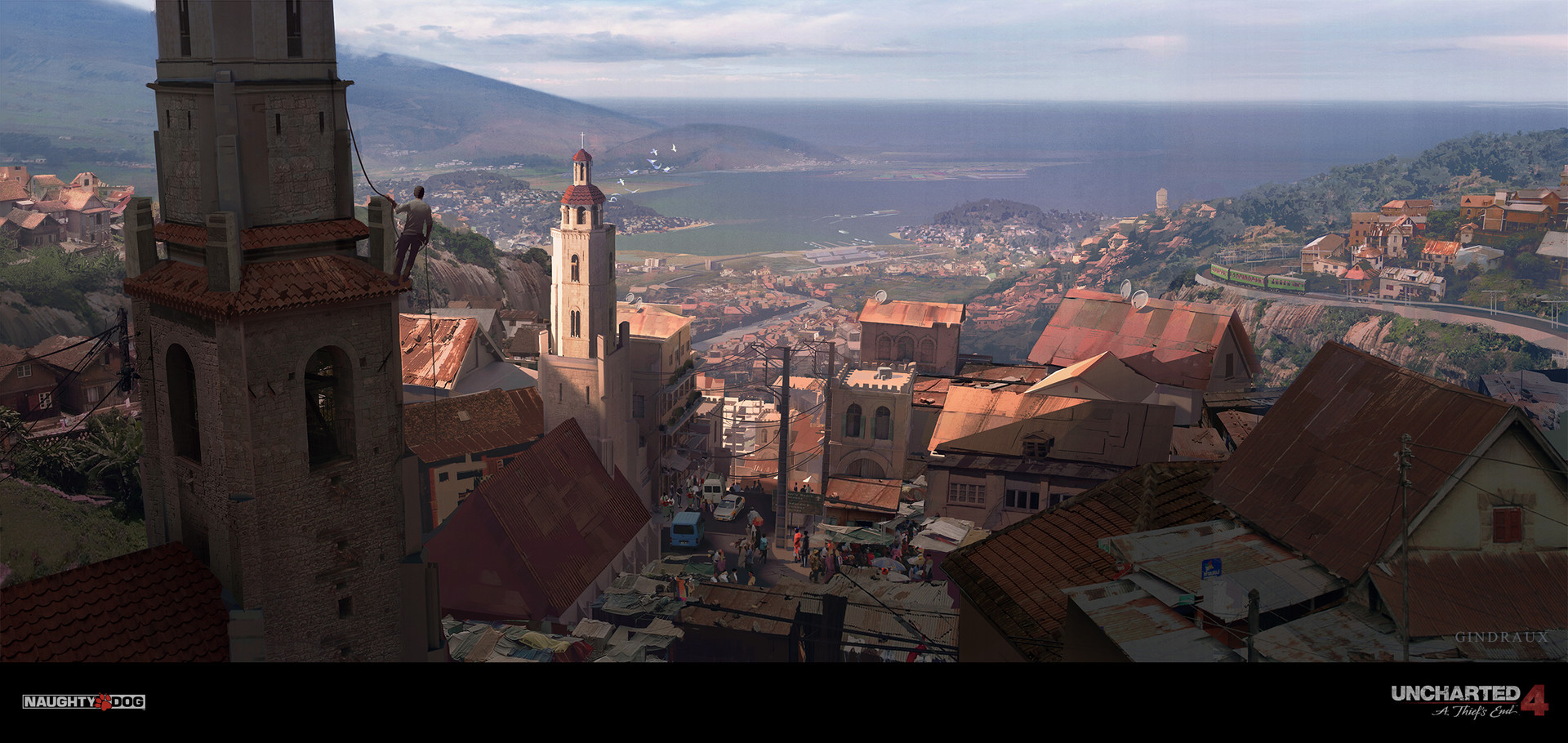 Nick Gindraux Digital Painting Concept Art Uncharted 4 Antananarivo Wide