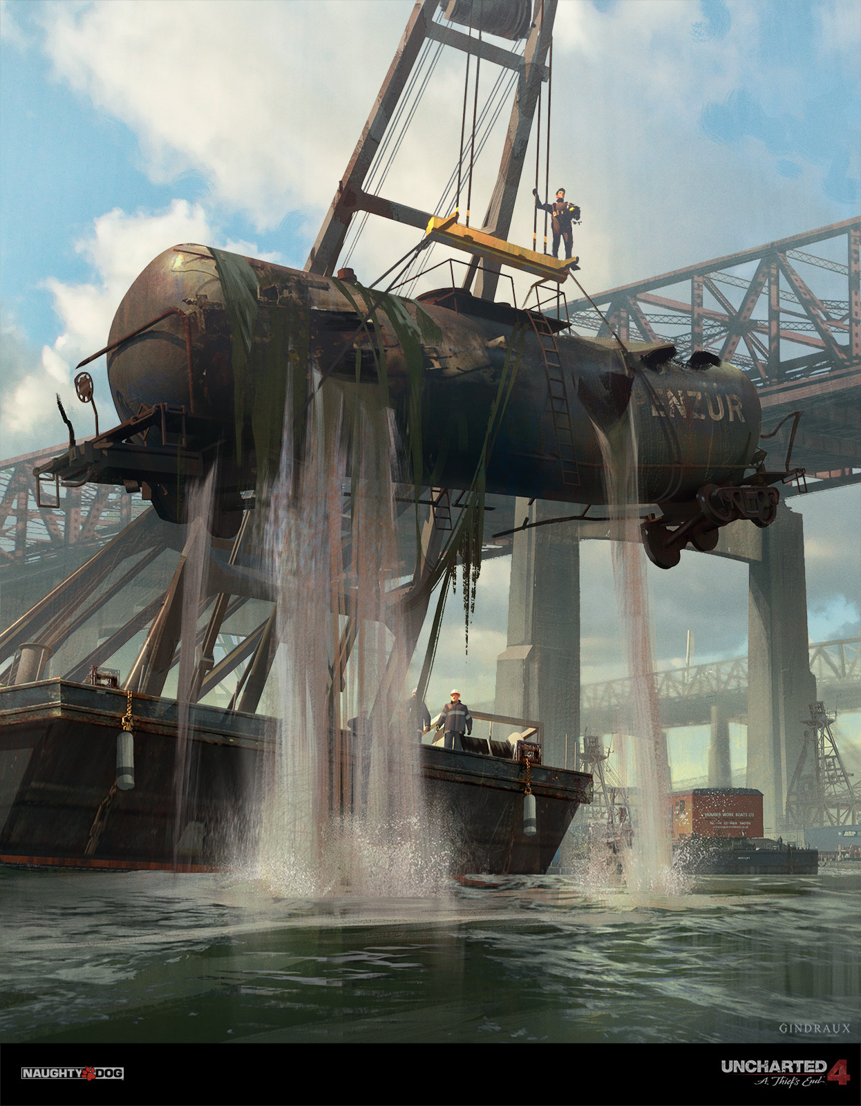 Nick Gindraux Digital Painting Concept Art Uncharted 4 Salvage Dive