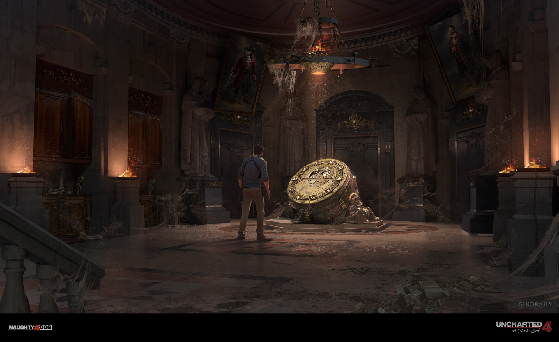 Nick Gindraux Digital Painting Concept art Uncharted 4 Tower Basement