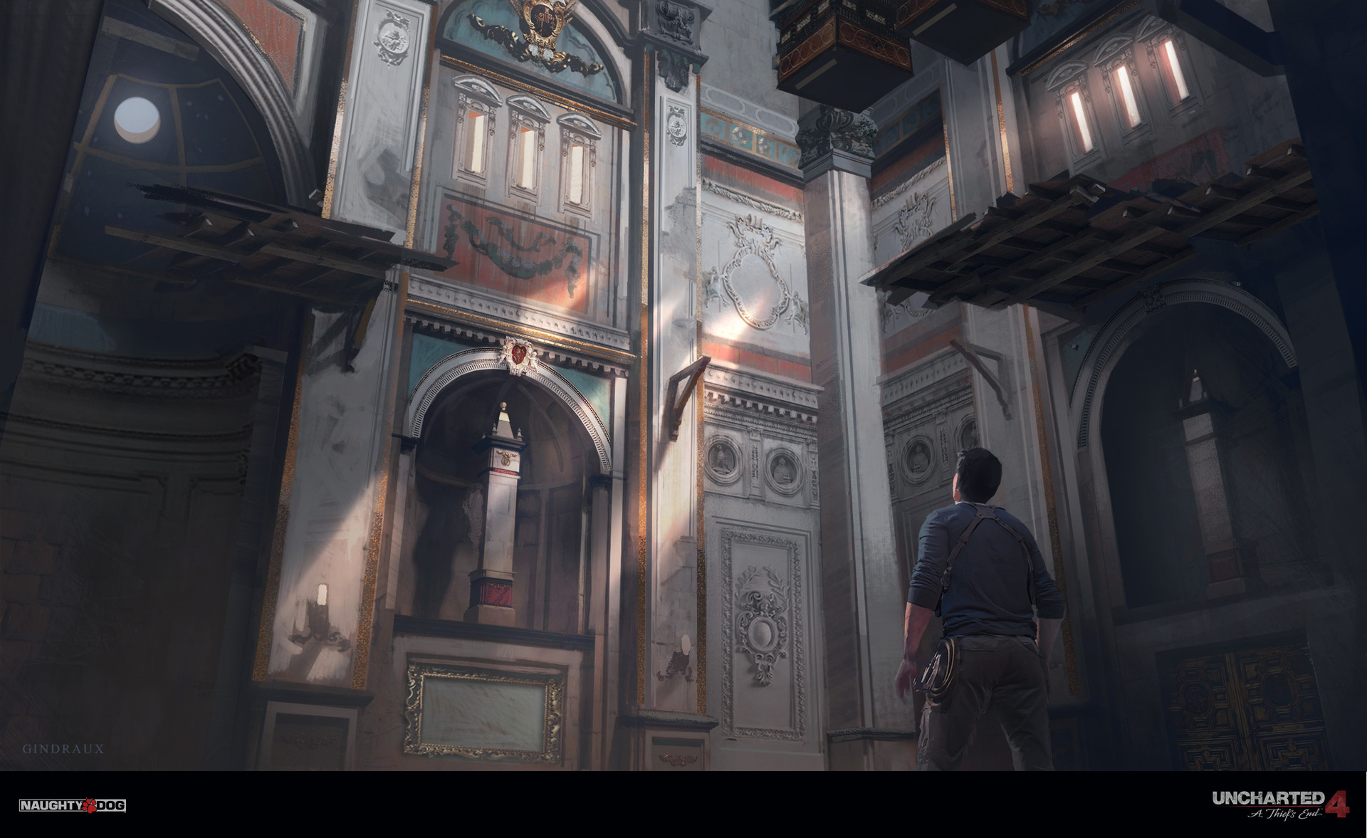 Nick Gindraux Digital Painting Concept art Uncharted 4 ClockTower