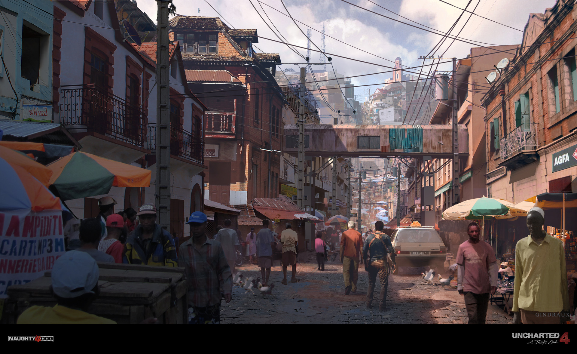 Nick Gindraux Digital Painting Concept art Uncharted 4 Antananarivo