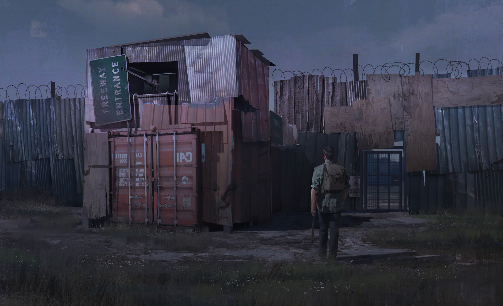 Nick Gindraux Digital Painting Concept art The Last of Us - Makeshift Wall