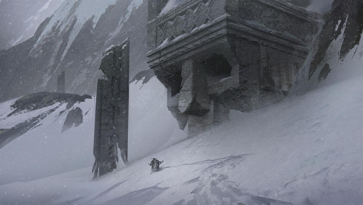 Nick Gindraux Digital Painting Concept art Lost in Snow