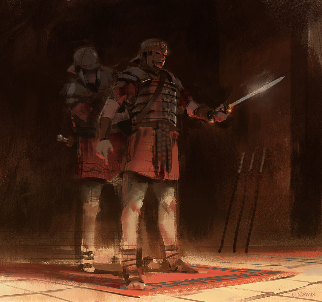 Nick Gindraux Digital Painting Sketch Roman Legionnary