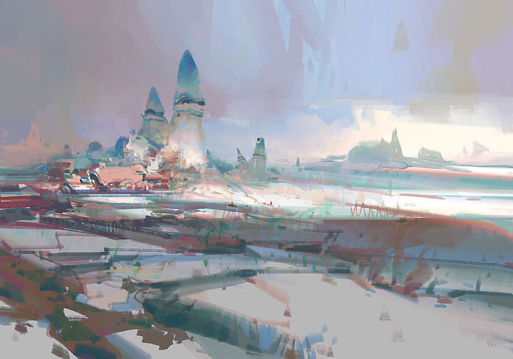 theo prins digital painting concept art guild wars 2 Lost Shores 3