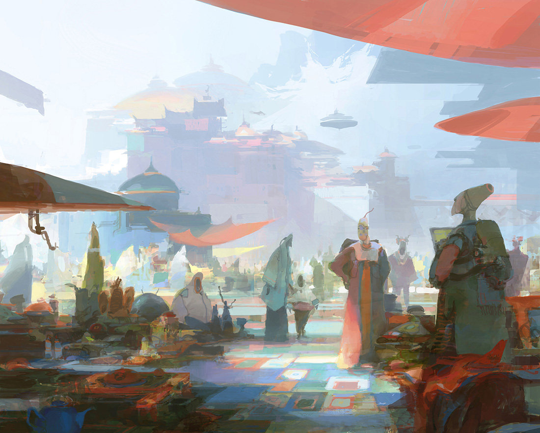theo prins digital painting concept art Personal work Odd