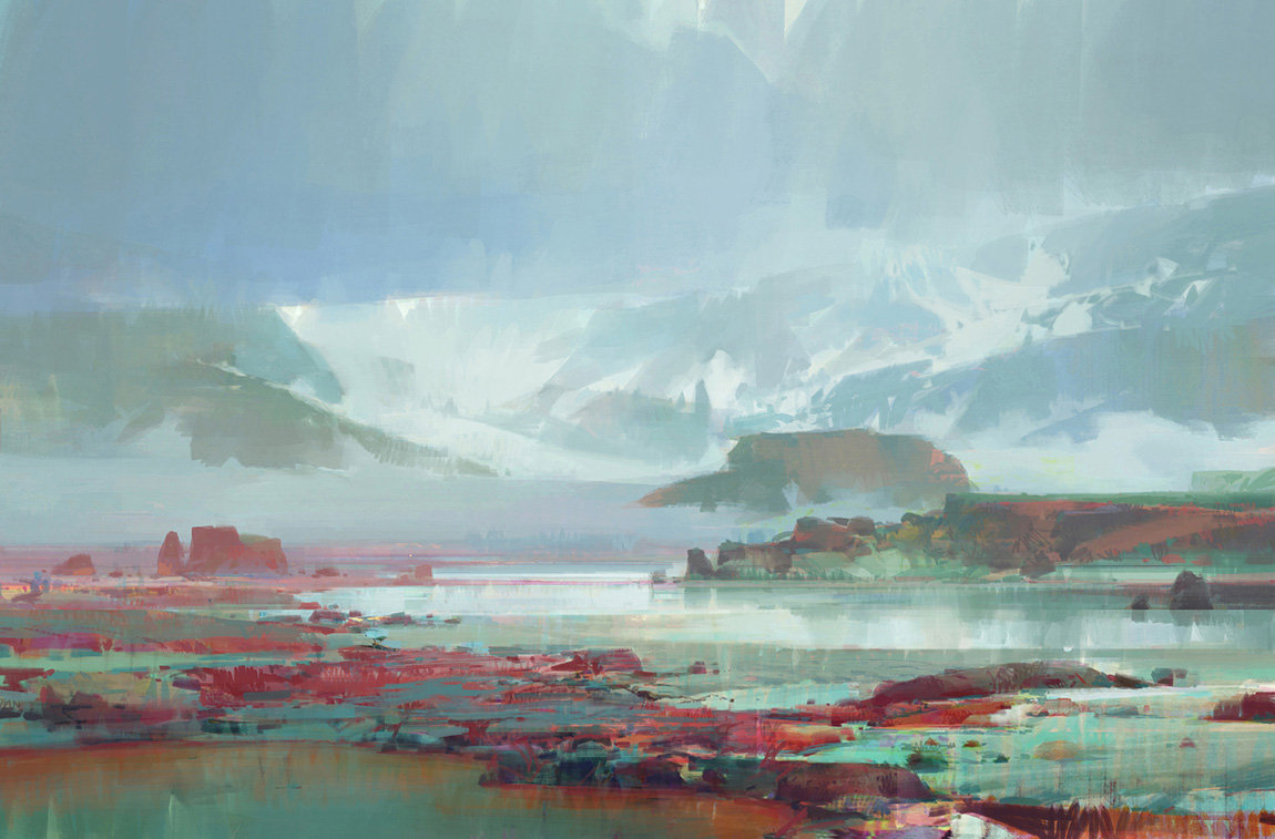 theo prins digital painting concept art Personal work Toundra