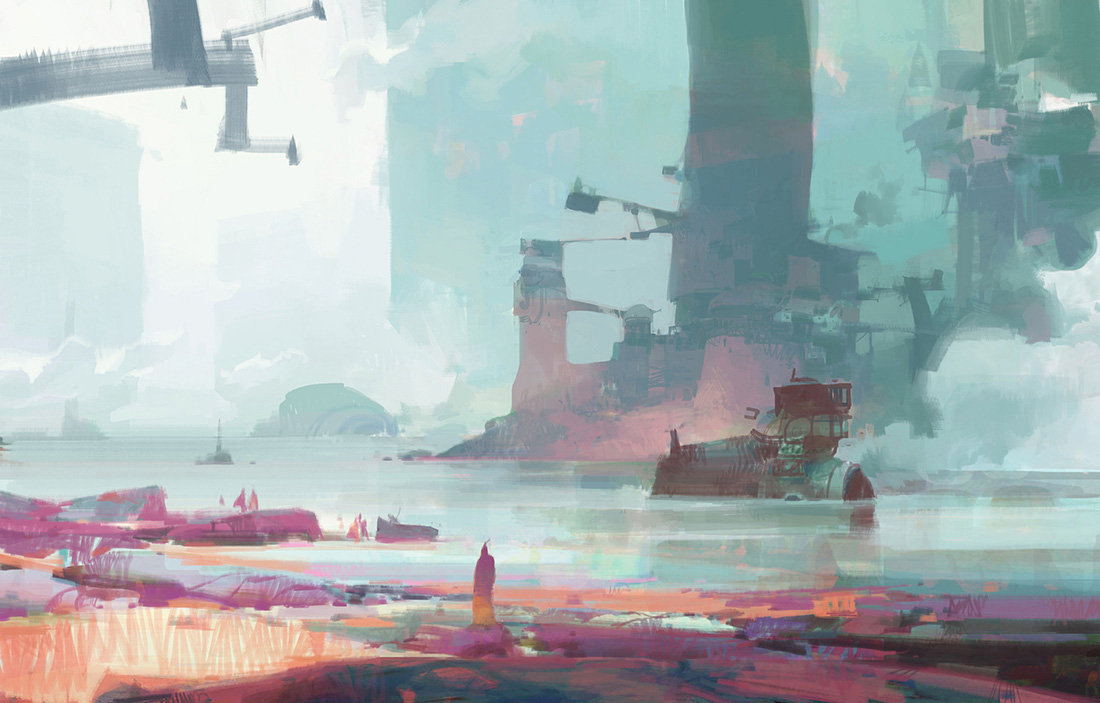 theo prins digital painting concept art Personal work Cove