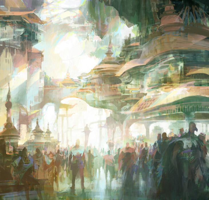 theo prins digital painting concept art Personal work Crowd
