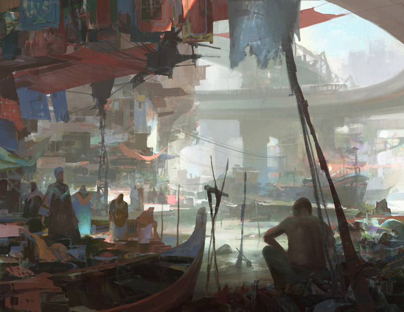 theo prins digital painting concept art Personal work Trash