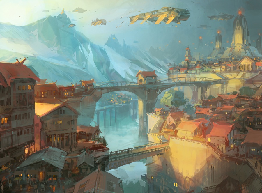 theo prins digital painting concept art Personal work at dawn
