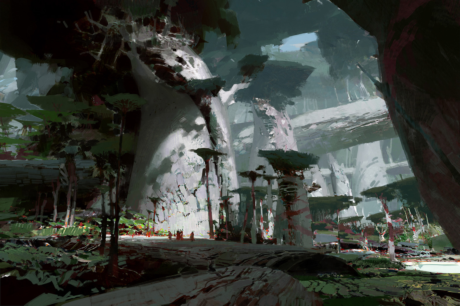 theo prins digital painting concept art guild wars 2 Jungle Floor Heart of Thorns