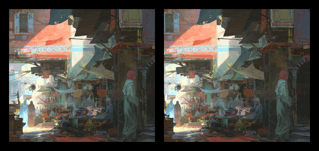 theo prins digital painting concept art Personal work 3D Stereoscopic Market Place