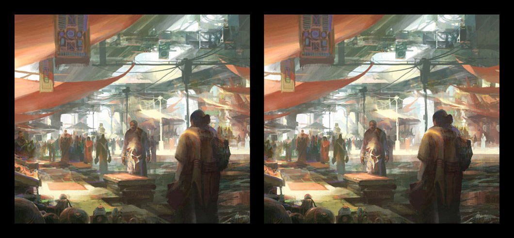 theo prins digital painting concept art Personal work 3D Stereoscopic Market place 2