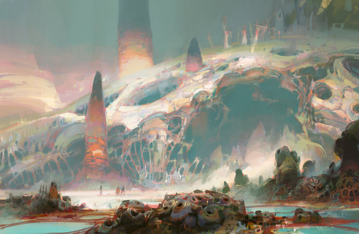 theo prins digital painting concept art guild wars 2 Lost Shores